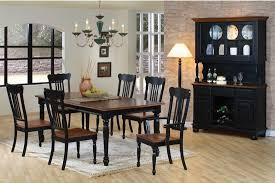 black dining room sets country look dining room set in black pine finish casual dinette