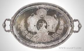 engraved tray antique silver flatware silver tableware
