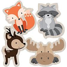 woodland creatures baby shower woodland creatures animal shaped decorations diy baby