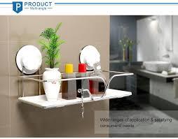 Suction Cup Bathroom Shelf Wall Mounted Shelf With Suction Cup Kitchen Wall Shelf Bathroom