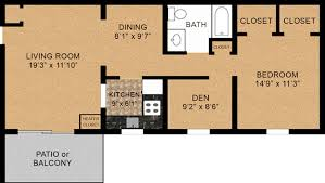 1 bedroom floor plan one bedroom floorplans