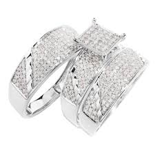 trio wedding sets wedding rings his and hers matching wedding bands cheap trio