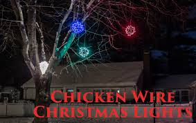 How To Put Christmas Lights On A Tree by How To Make Lighted Chicken Wire Christmas Balls Diy Outdoor