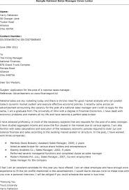 gallery of basic national sales manager cover letter samples and