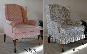 Stretch Wing Chair Slipcover Attractive Wing Chair Slip Covers With Slip Covers For Wingback