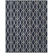 home decorators collection kingston geo navy ivory 5 ft x 7 ft 6