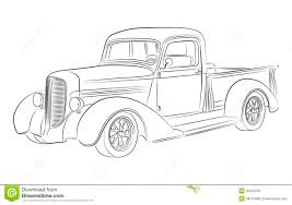 cars drawings hotrod pickup drawing stock photos image 32022223