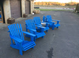 Pallet Patio Furniture Pinterest by Adirondack Chairs Painted With 2 Coats Of Cuprinol