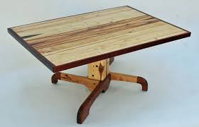 Unfinished Pedestal Table Custom Made Forklift Pallet Pedestal Coffee Table By Allan