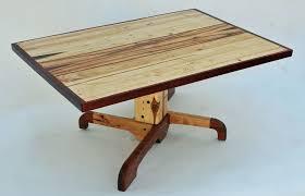 Pedestal Coffee Table Custom Made Forklift Pallet Pedestal Coffee Table By Allan