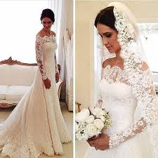 sleeve lace plus size wedding dress 2016 plus size wedding dress with sleeved lace dresses