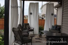 Ikea Patio Curtains by How To Make Your Own Diy Outdoor Curtains And Secure Them So They