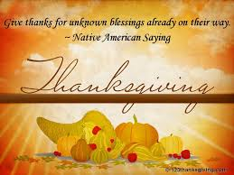 for thanksgiving this year give thanks for unknown blessings