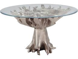 Gold Entry Table Dimond Home Champagne Teak Root 54 U0027 U0027 Round Champagne Gold Entry