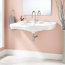 porcelain rectangle bathroom sink signature hardware
