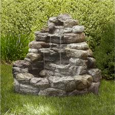 Rock Fountains For Garden Garden Oasis Large Lighted Rock Shop Your Way