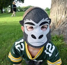 handmade felt gorilla mask child