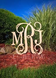 26 inch wooden monogram letters home decor weddings nursery