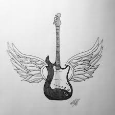 guitar with wings by gothianavet on deviantart
