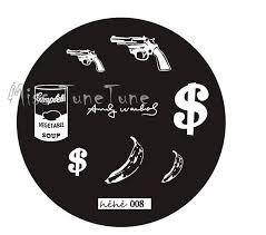 new stamping plate hehe08 gun banana cool style nail art stamp