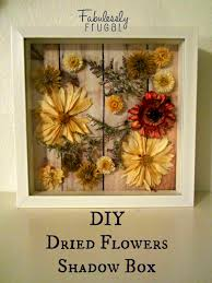diy dried flowers shadow box
