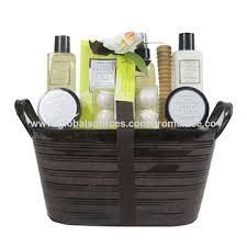 bath gift basket spa basmati tin basket luxury bath gift set global sources