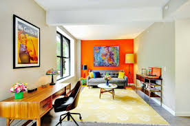 orange livingroom 16 living rooms with accent walls