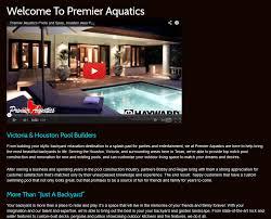client profile premier aquatics pool marketing site