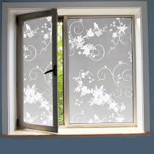 Decorative Window Film Stained Glass Aliexpress Com Buy 2017 Birds And Flowers Self Adhesive Film