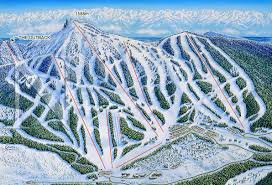 Mt Washington Trail Map by Mt Washington Canada James Niehues Map Artist Ski Maps