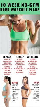 10 week no home workout plans all just you