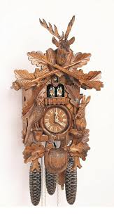 How To Wind A Cuckoo Clock Amazon Com 8 Day Deer Head Black Forest House Cuckoo Clock Home