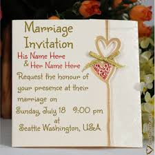 online marriage invitation card how to write names in wedding invitations name on marriage
