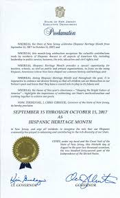 gov christie announces national hispanic heritage month in new
