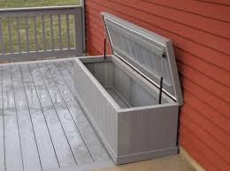 Waterproof Patio Storage Bench by Slow Close Hinge Decks R Us Waterproof Storage Bench With Slow