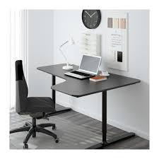 Corner Desk Bekant Corner Desk Right Black Brown Black 160x110 Cm Ikea