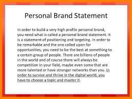 Personal Branding Resume Personal Statement Resume Examples Lukex Co