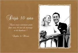 invitation anniversaire mariage invitation 10 ans de mariage noces d étain invitations