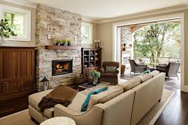 interior country living room blending modern and traditional