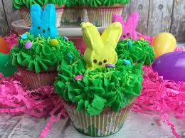 Decorating Easter Cupcakes With Peeps by Peeps Easter Bunny Cupcakes The Soccer Mom Blog