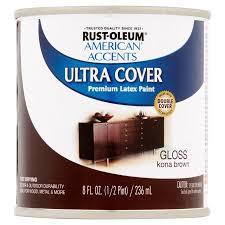 rust oleum american accents ultra cover gloss kona brown premium