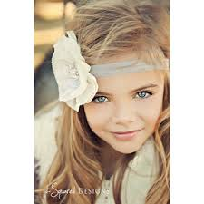 flower girl headbands baby flower headband wedding headband flower girl