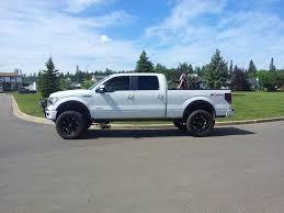 lifted white f150 black rims maxi truck