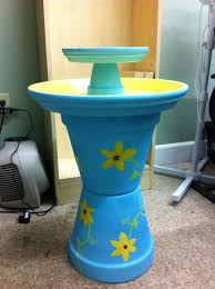 Flower Pot Bird Bath - 169 best clay pot bird baths u0026 feeders images on pinterest bird