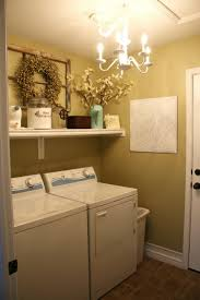 basement laundry room idea with window feat white ceramic floor