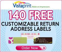 vistaprint 140 free address labels