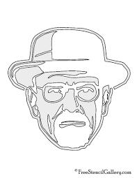 breaking bad heisenberg stencil free stencil gallery