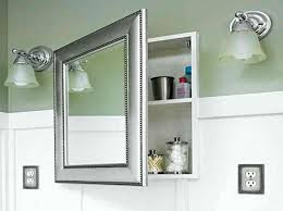 Framed Mirror Medicine Cabinet D Framed Silver Framed Medicine Bathroom With Wall Sconces And Medicine Cabinet With Mirror Full