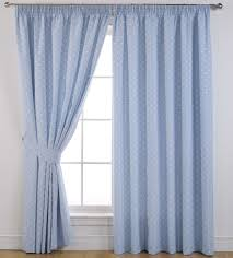 Silver Valance White Wooden Kitchen Window With Blue Curtain And Valance