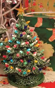 ceramic light up christmas tree medium lighted green ceramic christmas tree 16